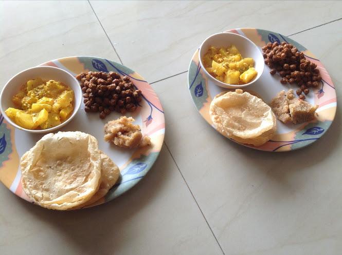 Ashtami puja at home (3/3)