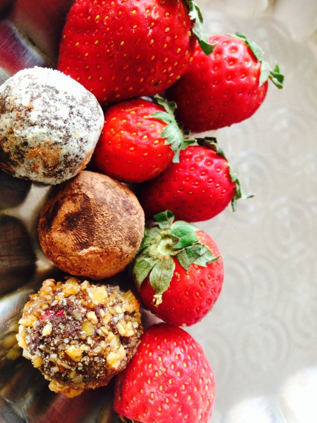 Rose Truffles with Strawberries