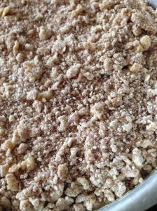 streusel before being baked