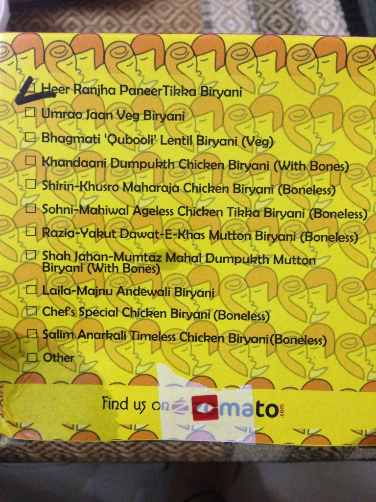 Biryani Affair menu- Mumbai
